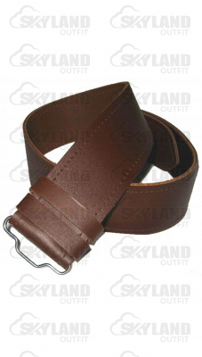 Gents Simple Plain Brown Leather Kilt Belt
