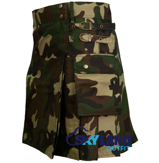 Men's Camouflage Utility Tactical Kilt