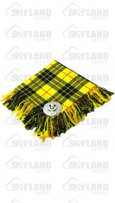High Quality Scottish Kilt Fly Plaid Purled, Fringed Acrylic Wool in McLeod of Lewis Tartan
