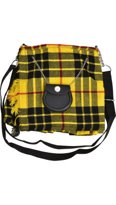 Scottish McLeod of Lewis Tartan Ladies Kilt Shaped Purse, Traditional Clothing Hand Bag