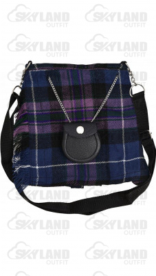 Scottish Pride of Scotland Tartan Ladies Kilt Shaped Purse, Traditional Clothing Hand Bag