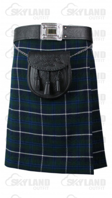 Traditional Blue Douglas Tartan 5 Yard 13oz. Scottish Kilt