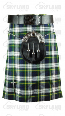Traditional Dress Gordon Tartan 5 Yard Scottish Kilt in 13oz.