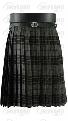 Traditional Gray Watch Tartan 5 Yard 13oz. Scottish Kilt
