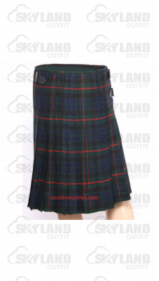 Traditional Gunn Tartan 5 Yard 13oz. Scottish Kilt