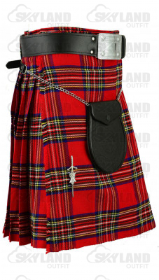 Traditional Royal Stewart Tartan 5 Yard 13oz. Scottish Kilt